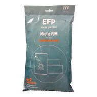 EFP HEPA Bag for Miele FJM AirClean 3D Efficiency HyClean Cloth, 8 Vacuum Bags + 4 Filters
