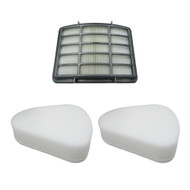 EFP HEPA Filter Kit for Shark Navigator Lift-Away NV350, NV351, NV352, NV355, NV356, NV357, 2 Foam Felt Pre-Filters + 1 HEPA Filter XFF350, XHF350