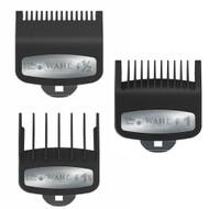 3 PCS Wahl Premium Clipper Cutting Guides Guards Metal Clip Set #1/2, #1, & #1 1/2