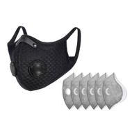 Dust Sports Face Cover Windproof Breathable Design for Running Cycling Mowing Outdoor Activities Plus 6 Filters