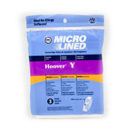 3 Hoover Type Y Vacuum Bags Fits Hoover WindTunnel Upright Vacs by DVC