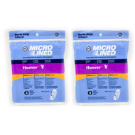 6 Hoover Type Y Vacuum Bags Fits Hoover WindTunnel Upright Vacs by DVC