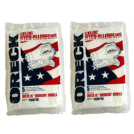 10 Pack Genuine Oreck XL Ironman Vacuum Bags Cleaner Part PKIM765 Allergy Hypo-Allergenic