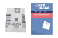 DVC Paper Replacement Bags Type J Fit Shop-Vac 16-22 Gallon Wet Dry Vacuums, 3 Bags