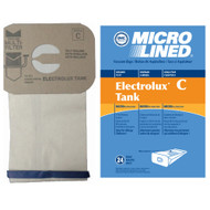DVC Micro-Lined Paper Replacement Bags Style C Fit Electrolux Canister Models - 24 Bags