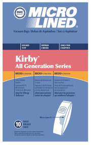 DVC Micro-Lined Paper Replacement Bags Style G4 Fit Kirby Generation Series - 10 Bags
