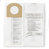 DVC Paper Replacement Bags Style G Fit Royal / Dirt Devil Handvacs 103, 103WCM, 08100, 08100RED, 08150, 08230, 6 Bags