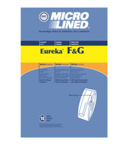 DVC Micro-Lined Paper Replacement Bags Style F/G Fit Eureka and Sanitaire Commercial Uprights - 10 Bags