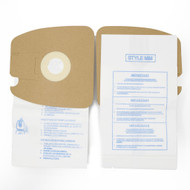 DVC Micro-Lined Paper Replacement Bags Style MM Fit Eureka Canister Models 3670 and 3680 Series - 10 Bags