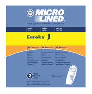 DVC Micro-Lined Paper Replacement Bags Style J, 61515C, 61995A Fit Eureka Upright Vacuums 2270, 2271, 2900, 2920 - 3 Bags