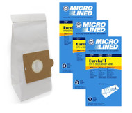 DVC Micro-Lined Paper Replacement Bags Style T Fit Eureka 970 and 980 Canister Models - 9 Bags