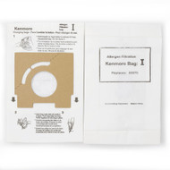 DVC Micro-Lined Paper Replacement Bags Type I Fit Kenmore Canister Vacuums 11628075890 and 11628085790 - 6 Bags