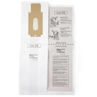 DVC Micro-Lined Paper Replacement Bags Style CC Fit Oreck Upright Models XL7, XL21, 2000's, 3000's, 4000's, 8000's, 9000's Series - 8 Bags