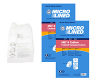 DVC Micro-Lined Paper Replacement Bags Fit Modern Day 8 Gallon Central Vacs - 6 Bags