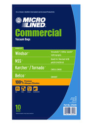 DVC Micro-Lined Paper Replacement Bags Fit Windsor Versamatic Models VSP14/VSP18 - 10 Bags