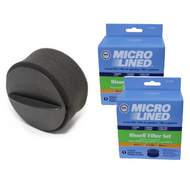 DVC Micro-Lined Replacement Filter 203-7913 fits Bissell Upright Vacuums - 2 Filters