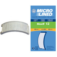 DVC Micro-Lined Replacement Post-Motor Exhaust Filter 203-1402 Fits Bissell Style 12 Powerforce Vac HEPA  - 1 Filter