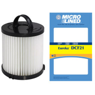 DVC Micro-Lined Replacement Dust Cup Filter DCF21 Fits Eureka Upright Vac - 1 Filter