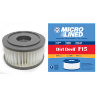 DVC Micro-Lined Replacement Filter 3-SS0150-001 Royal/Dirt Devil F15 Upright Vacuum HEPA  - 1 Filter