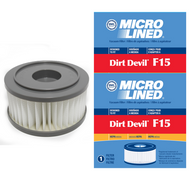 DVC Micro-Lined Replacement Filter 3-SS0150-001 Royal/Dirt Devil F15 Upright Vacuum HEPA  - 2 Filters
