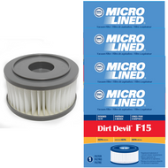DVC Micro-Lined Replacement Filter 3-SS0150-001 Royal/Dirt Devil F15 Upright Vacuum HEPA  - 4 Filters