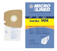 DVC Micro-Lined Paper Replacement Bags Style MM Fit Eureka Canister Models 3670 and 3680 Series - 3 Bags
