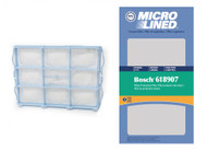 DVC Micro-Lined Replacement Filter 618907 Fits Bosch Beetle 71000 Series Pre-motor Secondary Filter - 1 Filter