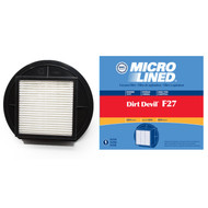 DVC Micro-Lined Replacement Filter 1-LY2108-000 Royal/Dirt Devil F27 Upright Vacuum HEPA  - 1 Filter