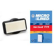 DVC Micro-Lined Replacement Filter 3-201082-00 Royal/Dirt Devil F19 Broom Bagless Vacuum HEPA  - 1 Filter
