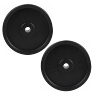 2 OEM Deck Wheels for Cub Cadet MTD White Outdoor Craftsman Troy-Bilt and Columbia Mowers 734-0973