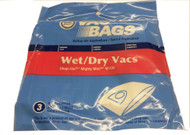 3 Paper Bags for Shop Vac 901-06