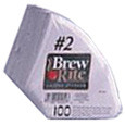 Coffee filters, No 2 cone style paper filters 100 count