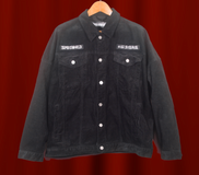 Black Corduroy Embroidered Jacket - SIZE XL (limited run)
