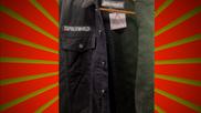 Black Denim Faux Wool Lined Jacket---2XL (Limited Edition)