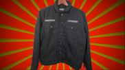 Black Denim Faux Wool Lined Jacket---XL (Limited Edition)
