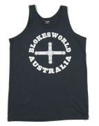 Blokesworld Singlet - Front