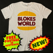 The Blokesworld Burger Shirt - Front