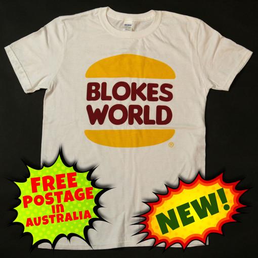 The Blokesworld Burger Shirt - Front