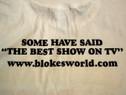 The Blokesworld Burger Shirt - back text