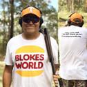 Ado smashing clays in his Blokesworld Burger shirt!