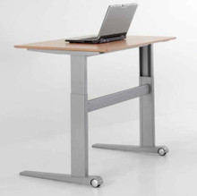 Conset sit to stand office desk.  Electric adjustable office table.  Ergonomic electric office desk.