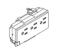 Haworth Premise Electrical Triplex 3 circuit receptacles 15 AMP Box of 6