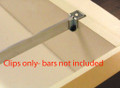 Bracket Clips for Extra Thick Drawer Walls for Hanging Files for Wooden Cabinets- Pair