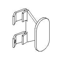Knoll Dividends Coat Hook Slot Mount 10 Pack Black