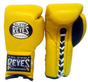 Cleto Reyes Professional Training Gloves -Lace up - Yellow