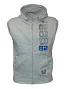 Bad Boy Sleeveless Hoodie - Grey