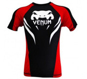 Venum Electron 2.0 Short Sleeves Rashguard - Black/Red