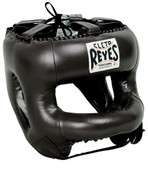 Cleto Reyes Redesigned  Headgear Facesaver w/ Nylon Bar Black