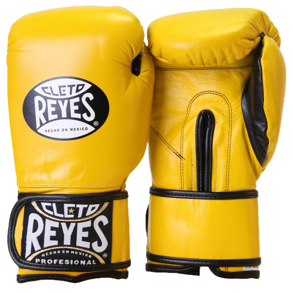 Citrus Green Cleto Reyes Hook and Loop Leather Training Boxing Gloves