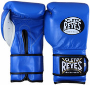 Cleto Reyes Professional Training Boxing Gloves with Velcro - Blue
